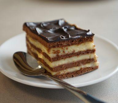 prajitura cu foi cu miere si cacao
